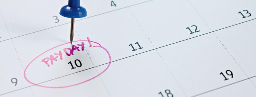payroll date on calendar