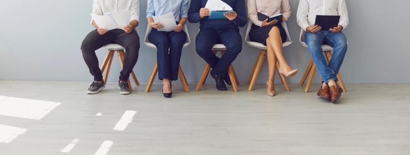 staffing employees sitting