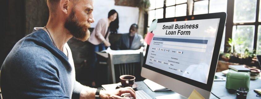 man applying for small business loan